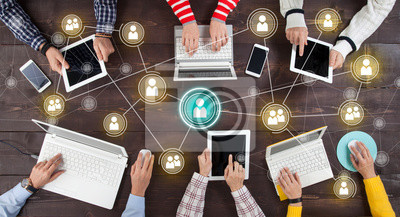 Bild Social Network Online Sharing Connection Concept.