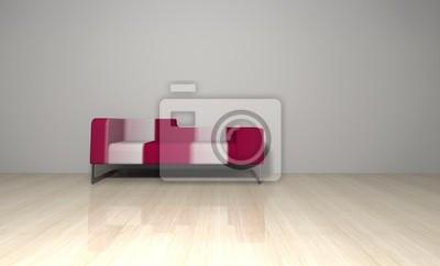 Sofa Rot Weiss Gestreift Leinwandbilder Bilder Couch Designer