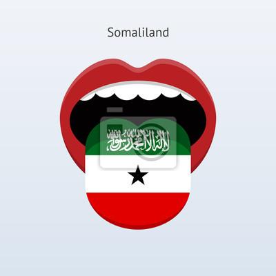 Somaliland Sprache. Abstrakt menschliche Zunge.