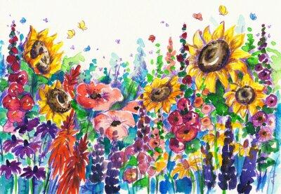 Sommer Blumen im Garten