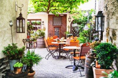 Sommer Cafe Terrasse Leinwandbilder Bilder Tour Tourismus