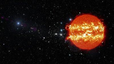 Bild Sonne im Weltraum. Elemente dieses Bildes von der NASA eingerichtet