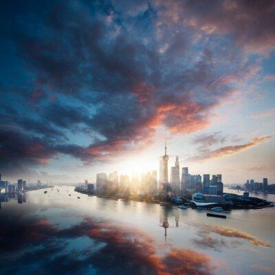 Bild Sonnenaufgang Stadt