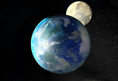 Bild Sonnenaufgang über der Erde vom Weltraum aus gesehen