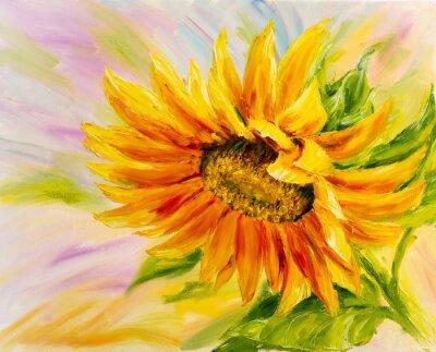 Bild Sonnenblume, Ölmalerei auf Leinwand