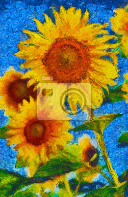 Sonnenblumen Malerei Van Gogh Stil Nachahmung Leinwandbilder