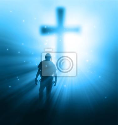 Sonnenstrahlen und Kreuz
