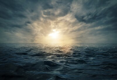 Bild Sonnenuntergang auf stürmischer See
