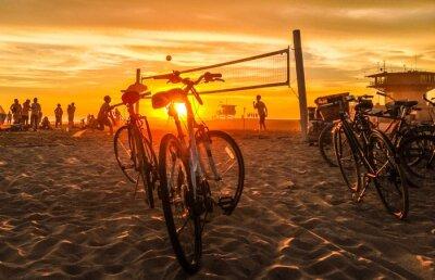 Bild Sonnenuntergang Beach-Volleyball am Venice Beach