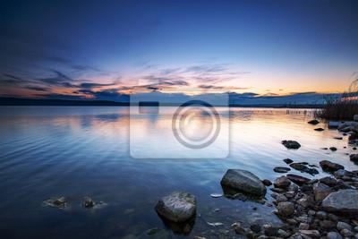 Sonnenuntergang über dem See