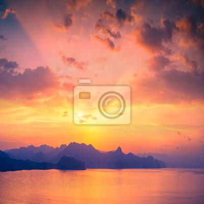 Sonnenuntergang über Sudak Bucht