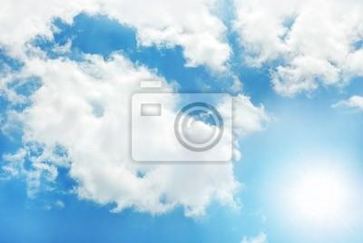 sonnigen Himmel Hintergrund