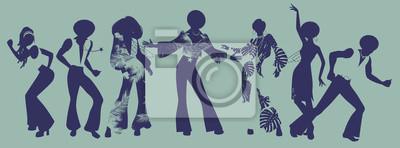 Bild Soul Party Zeit. Tänzer von Seele, Funk oder Disco.