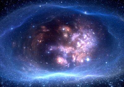 Bild Space Hintergrund mit Nebel und Sternen