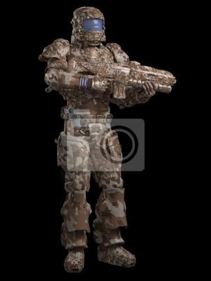 Space Marine-Soldat in Desert Camo
