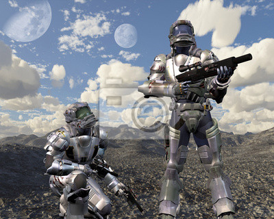 Space Marines auf verlassenen Planeten - 1