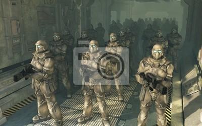 Space Marines - Warten zum Aussteigen