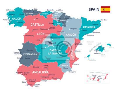 Spanische Karte.Bild Spanien Karte Abbildung