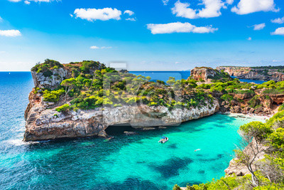 Spanien Mittelmeer Mallorca Strand Bucht Cala Moro Leinwandbilder