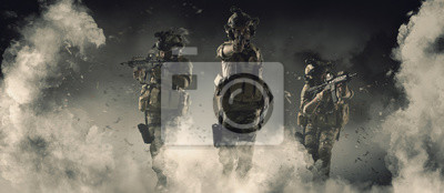 Bild Special soldier in action military concept