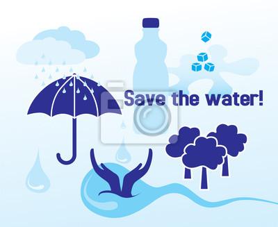 Speichern Sie das Wasser - Konzept