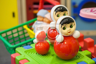 Spielzeug im Kinderspielzimmer. Kinderspielzeug.