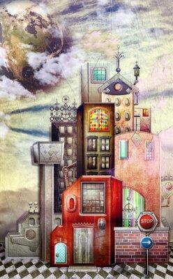Bild Spielzeugstadt in den Himmel