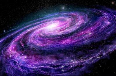 Bild Spiral-Galaxie, 3D-Darstellung der Weltraum-Objekt.