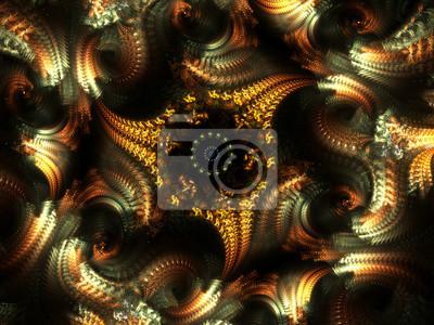 Bild Spiral Pinnate Hintergrund - Fractal Art
