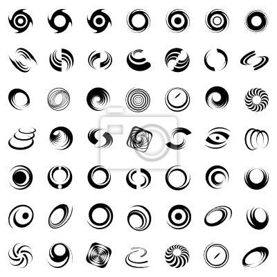 Spirale-Bewegung und Drehung. 49 Design-Elemente.