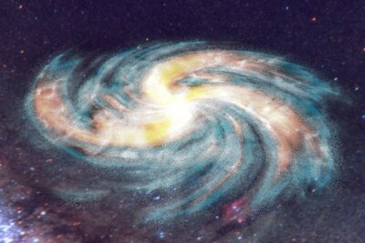 Bild Spiralgalaxie auf Raum Hintergrund mit Sternen
