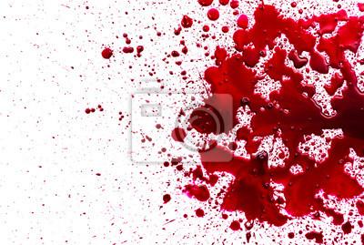 Bild Splattered Blutfleck auf weißem Hintergrund
