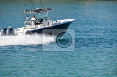 Bild Sport fishing boat powered by two outboard engines