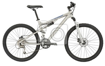 Bild Sport silver bicycle with Clipping Path!