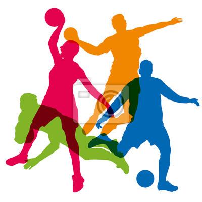 Sport - sport d'équipe - fußball - korb - sport collectif - rugby - handball