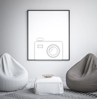 Bild Spott herauf Plakatrahmen, Innenminimalismus, skandinavisches Design, 3d übertragen