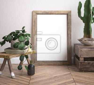 Bild Spott herauf Rahmen, verzierter rustikaler Hintergrund, 3d übertragen