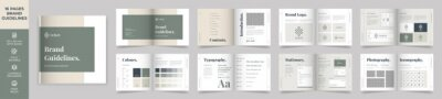 Bild Square Brand Manual Template, Simple style and modern layout Brand Style , Brand Book, Brand Identity, Brand Guideline, Guide Book
