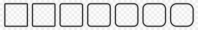 Bild Square Icon Black   Round Squares   Foursquare Symbol   Frame Logo   Button Sign   Isolated Transparent   Variations