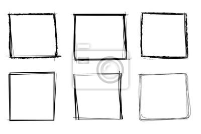 Bild Squares. Hand drawn shapes. Doodle style