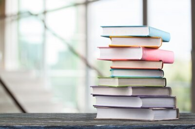 Bild Stack of books, education and learning background