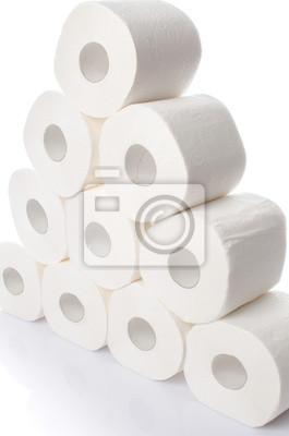 Bild Stack of toilet paper rolls