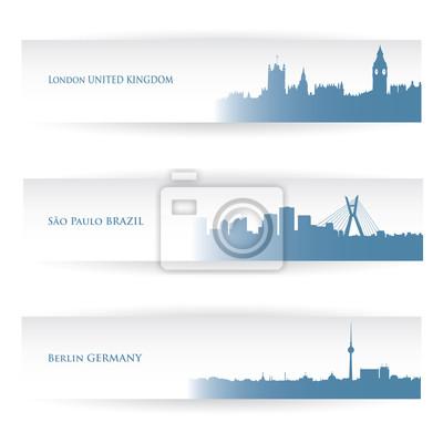 Stadt Banner - Vektor-Illustration