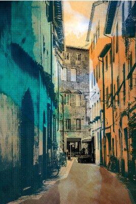 Bild Stadt Lucca, Postkarte