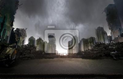 Bild Stadt zerstört durch den Krieg