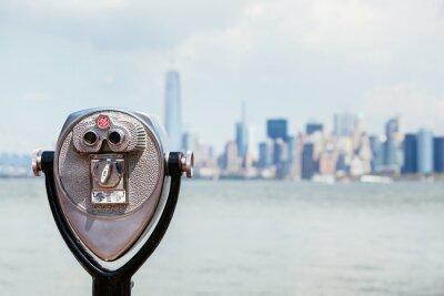 Bild Stadtansicht von New York mit Fernglas