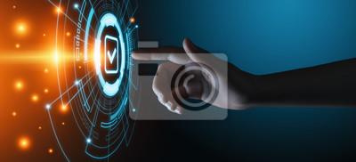 Bild Standard Quality Control Certification Assurance Guarantee Internet Business Technology Concept