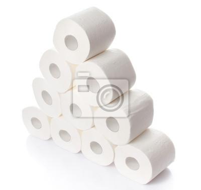 Bild Stapel von Toilettenpapierrollen