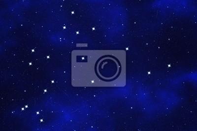 "Bild Star-field  background of zodiacal symbol ""Aquarius"""