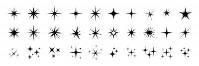 Bild Star icons. Twinkling stars. Sparkles, shining burst. Christmas vector symbols isolated